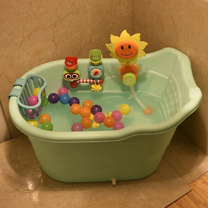 2018 Large Size Children\'S Bath Barrel Baby Bathtub Plastic Tub ...