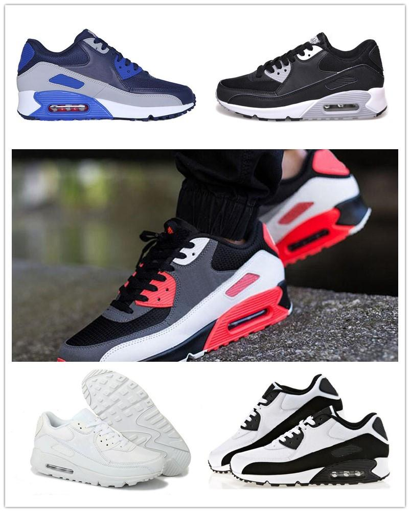 b6ec9d848 High Quality Mens Snekers Air Cushion 90 Running Shoes Women Men Sport  Shoes Trainers Sneakers Eur36-45 Online with  53.57 Pair on Bluennkee s  Store ...