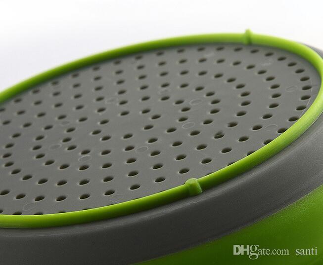 kit Pliable Silicone Colander Panier À Laver Crépine Pliable Égouttoir Avec Poignée Outil De Cuisine