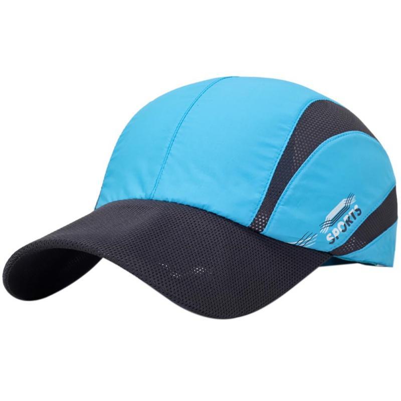 0271a36b199 Patchwork Mesh Baseball Cap Summer Men Caps Adjustable Hat Unisex ...