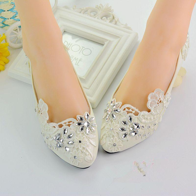 compre claro cristales zapatos de mujer tacones bajos 2018 blanco