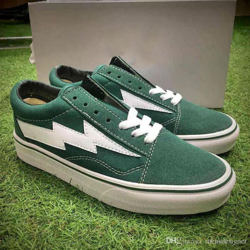 6fc09a8732 2019 Men Retro Lightning Revenge X Storm Kanye Old Skool Skate Shoes ...