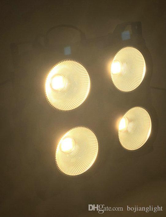 UK Tax Free 4 * 100W COB 2IN1 WW / CW LED Blinder Light 4 Cabezas / Ojos Audience Studio Light