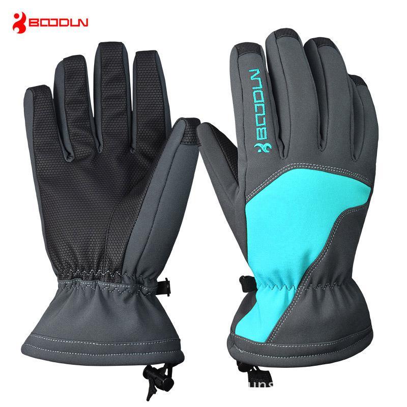 Boodun Unisex Winter Outdoor Snow Gloves Windproof Ski Gloves Thicken Warm Snow Skiing Skating Mittens Luvas Waterproof Online Shop Sports & Entertainment