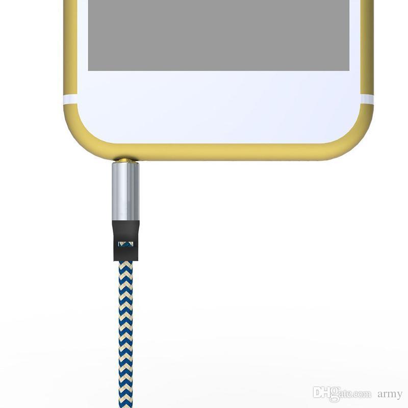 Car Audio AUX Verlängerungskabel Nylon Geflochten 3ft 1M verdrahtet Auxiliary Stereo Jack 3.5mm Stecker für Andrio Handy Lautsprecher
