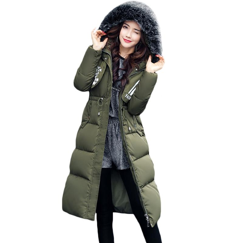 6c7da900e2 2018 2017 Latest Winter Tops Faux Fur Army Green Long Sleeve Parkas High  Fashion Streetwear Women Casual Hooded Drawstring Coat XH706 From Honjiao