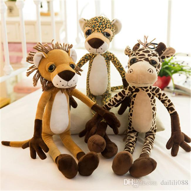 2018 Lilytoyfirm Jungle Four Brothers Plush Doll Lion Tiger Leopard ...