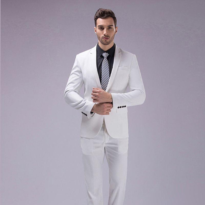 69f13ad45 Custom Made Slim Fit Suits Men Notch Lapel Business Wedding Suits ...