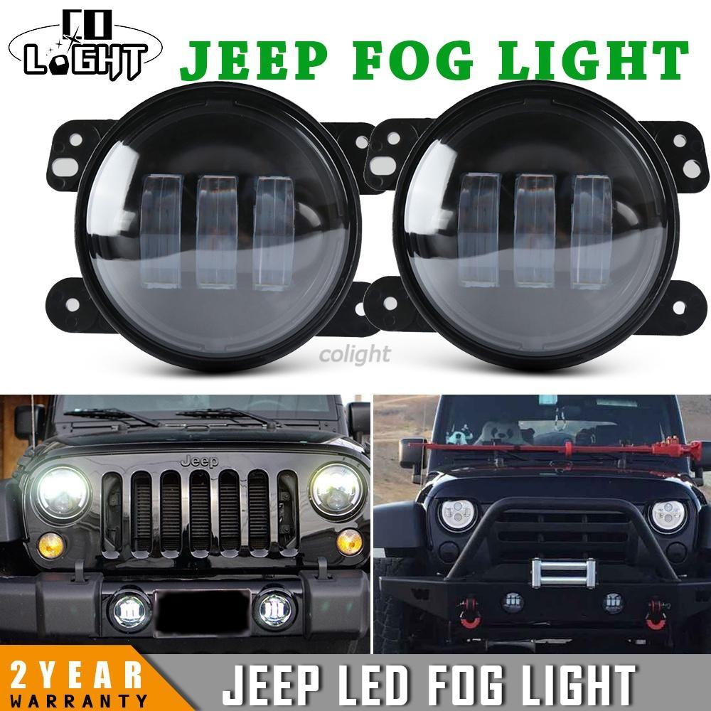 4 Inch Led Fog Light Headlight 30w Projector Auto Drl 12v For Jeep Wrangler Lights Offroad Jk Dodge Harley Daymaker Car Styling Driving