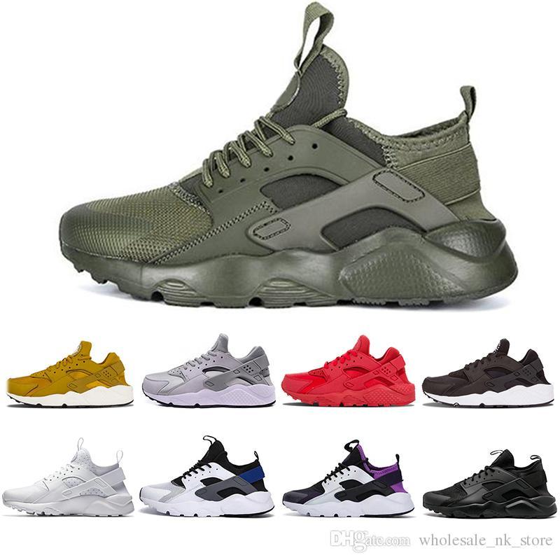 61a388a44ce3 Cheaper New Huarache 4.0 1.0 Men Women Running Shoes White Zapatos ...