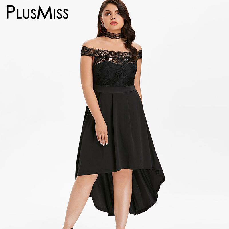 Plus Size Black Lace Dress