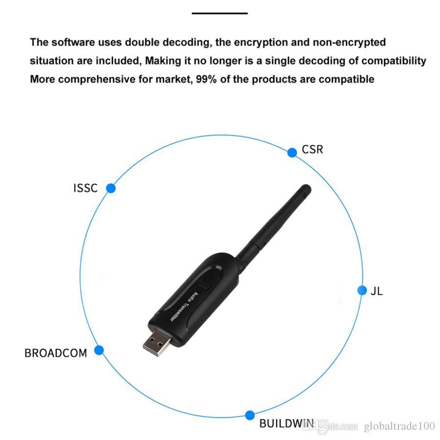 USB 3.5mm sans fil Bluetooth reçoit A2DP stéréo musique émetteur audio émetteur pour ordinateur portable PC TV Bluetooth haut-parleur écouteur B5