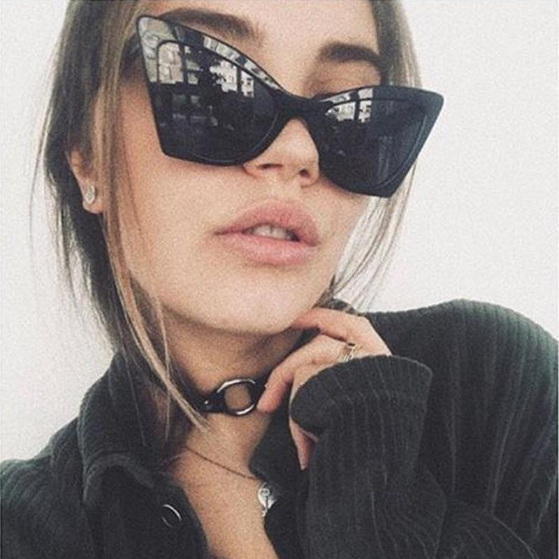 bbbde9e876 Fashion Sexy Cat Eye Sunglasses Women Vintage Brand Oversized Sun Glasses  Female Clear Lens Eyeglasses Oculos De Sol UV400 Super Sunglasses Victoria  Beckham ...