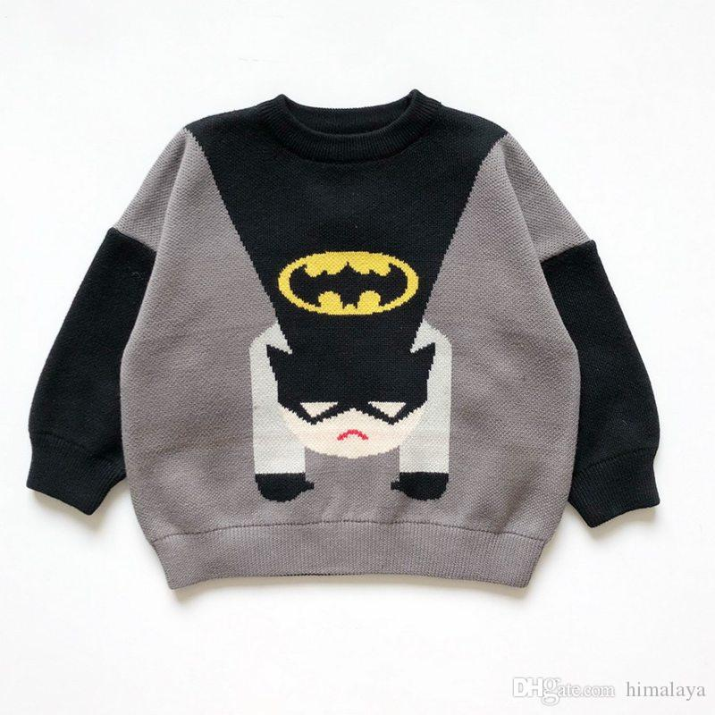 8d074bcd8b84 Baby Girls Boys Super Heros Sweaters 2018 Kids Cotton Pullover ...