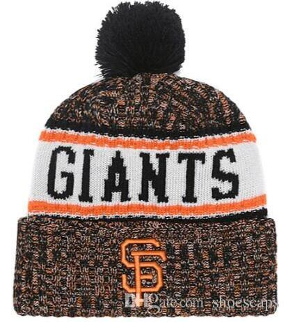 69ddb41f9d Discount Giants Beanie Sideline Cold Weather Graphite Official Revers Sport  Knit Hat All Teams winter Warm Knitted Wool Skull Cap