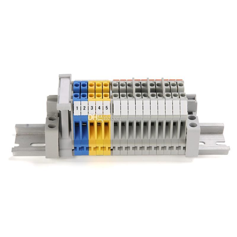 10 ADET ZB8 Boş Din Raylı Terminal Blokları Maker Şeritler Etiket için beyaz İNGILTERE-6N
