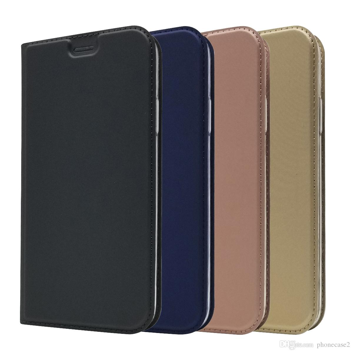 new concept a2d9d 18925 Leather case For IPhone 9 Plus Flip case card holder Holster Magnetic  attraction Cover Wallet Case for iphone 9 plus