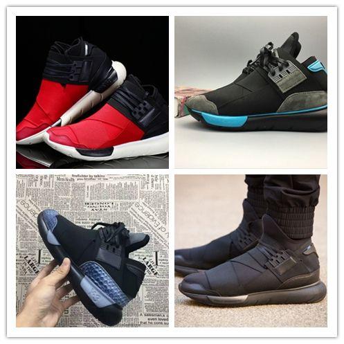 separation shoes 9a715 b955c Acheter 2018 Haute Qualité Y 3 QASA RACER Rouge Vista Gris Sneakers  Respirant Hommes Et Femmes Chaussures De Course Couples Y3 Outdoor  Entraînements Taille ...