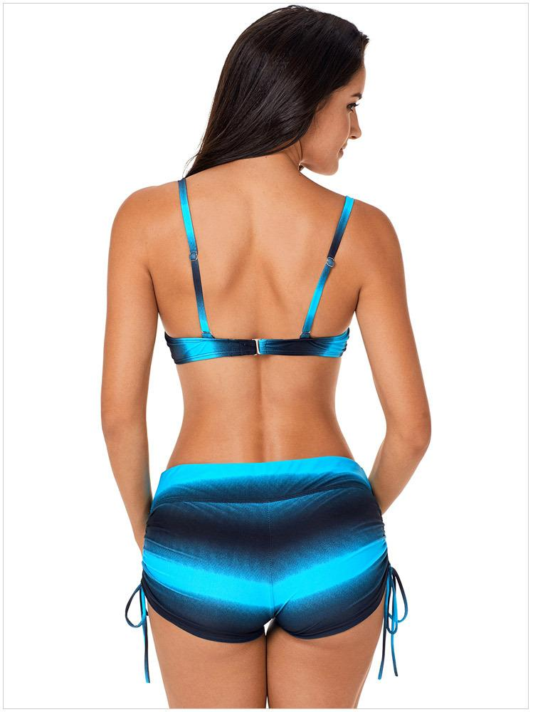 New 2018 swimwear women clothes Stripe Bikini Swimsuit bathing suits Boxer Brief 2 Designs Summer Beach Wear