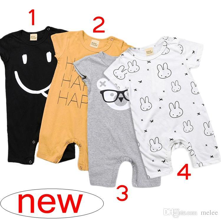 dfca3d8a1 Ins Summer Infant Baby Toddler COTTON Bunny Romper Jumpsuit Sunsuit ...