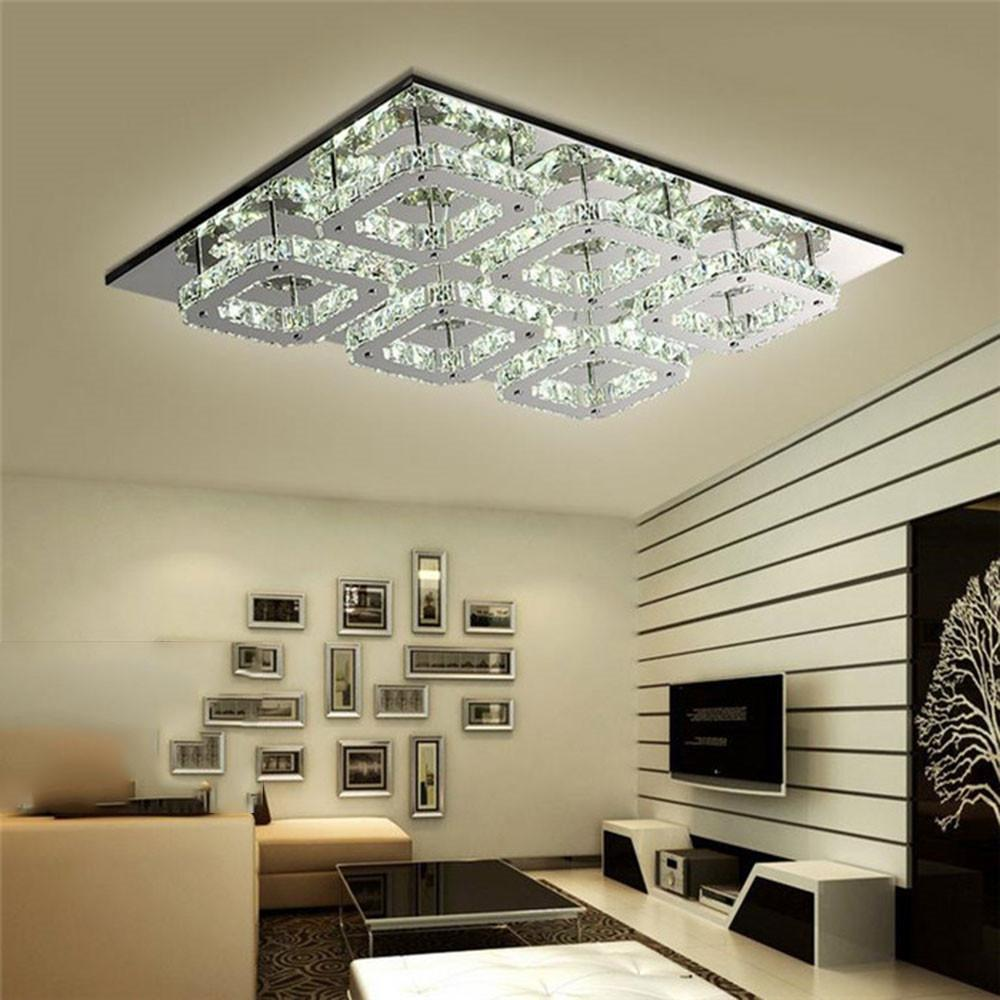 2018 Modern Led Crystal Ceiling Light Fixture 6 Heads Lamps Lamparas ...