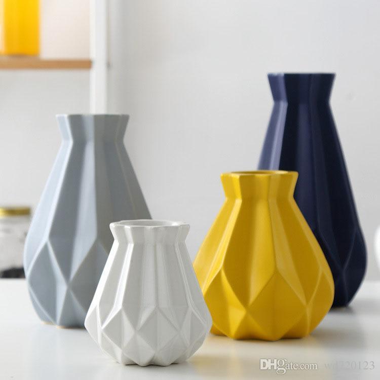 Home Decor Color Ceramic Vase Flower Arrangement Ceramic Art