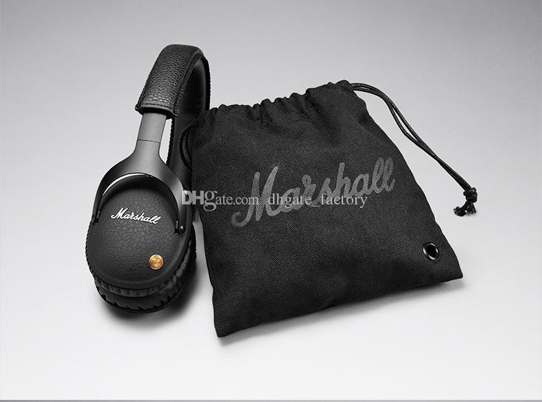 مارشال مونيتور سماعات بلوتوث لاسلكية دي جي هيفي سماعة إلغاء الضوضاء الرياضة سماعة لفون X 8 زائد S9 + الهاتف الخليوي epacket