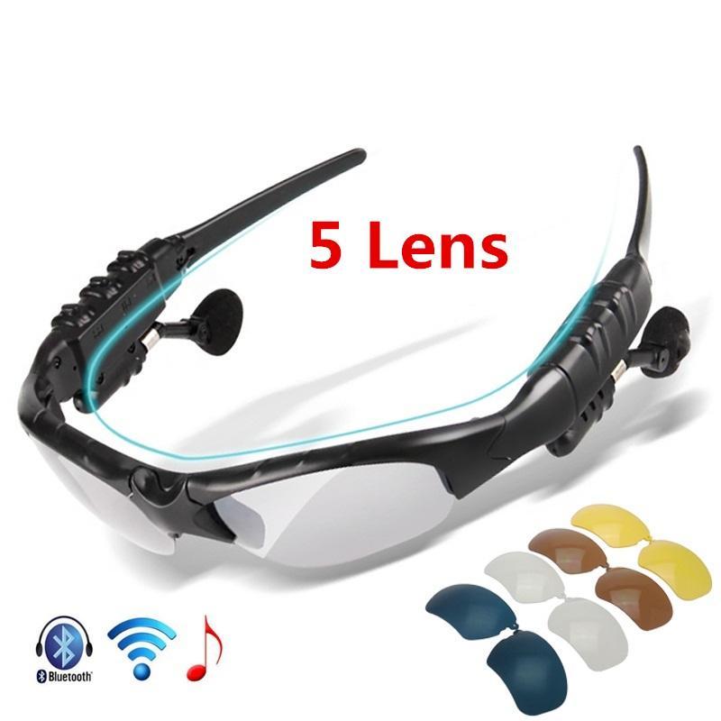 Polarizadas Gafas Bluetooth Lentes Ciclismo De 5 Motociclismo JuTK31cFl