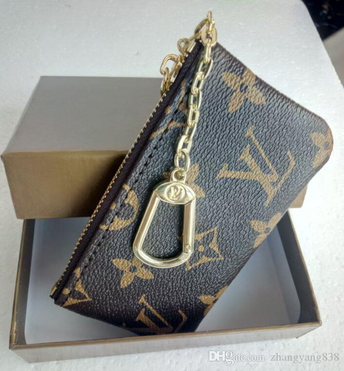ead9d0231402f KEY POUCH Damier Canvas Holds High Quality Famous Classical Designer ...