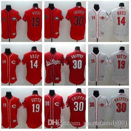 9634b2adb97 ... cheap mens cincinnati reds baseball jerseys 19 joey votto 14 pete rose  30 ken griffey red