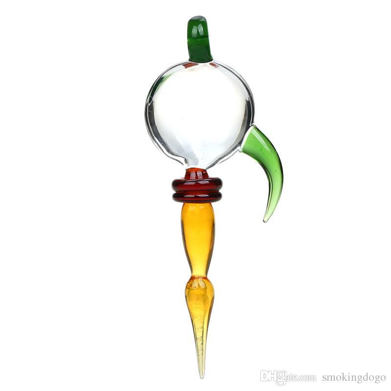 Smokingdogo Glas Dabber Werkzeug für Öl und Wachs Glas Ölplattformen Dab Rigs Rose Blume Glas Bong Quarz Enails Kraut Wachs Tupfen Werkzeug