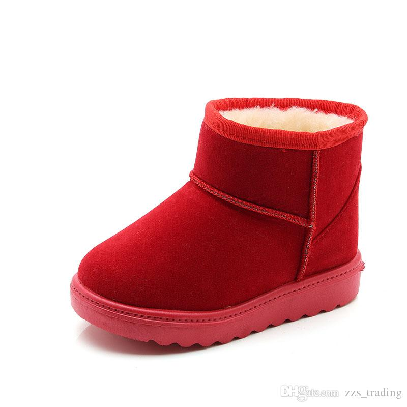 4a2b794c1 New Arrival Bling Winter Shoes for Girls Plush Toddler Boy Boots Kids  Keeping Warm Baby Snow Boots Children Shoes fashion Shoes