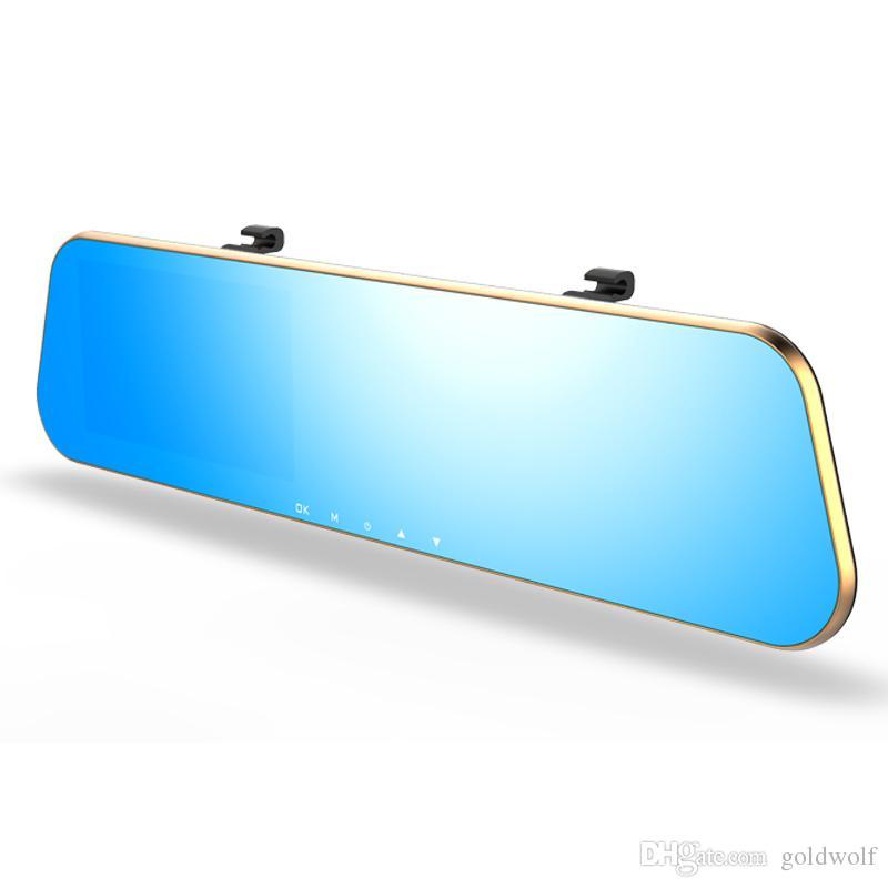 L910 Full HD 1080P doble lente CAR DVR 140 grados 4.3 pulgadas G-Sensor de estacionamiento Detección de movimiento Detección de una tecla Bloqueo de grabación