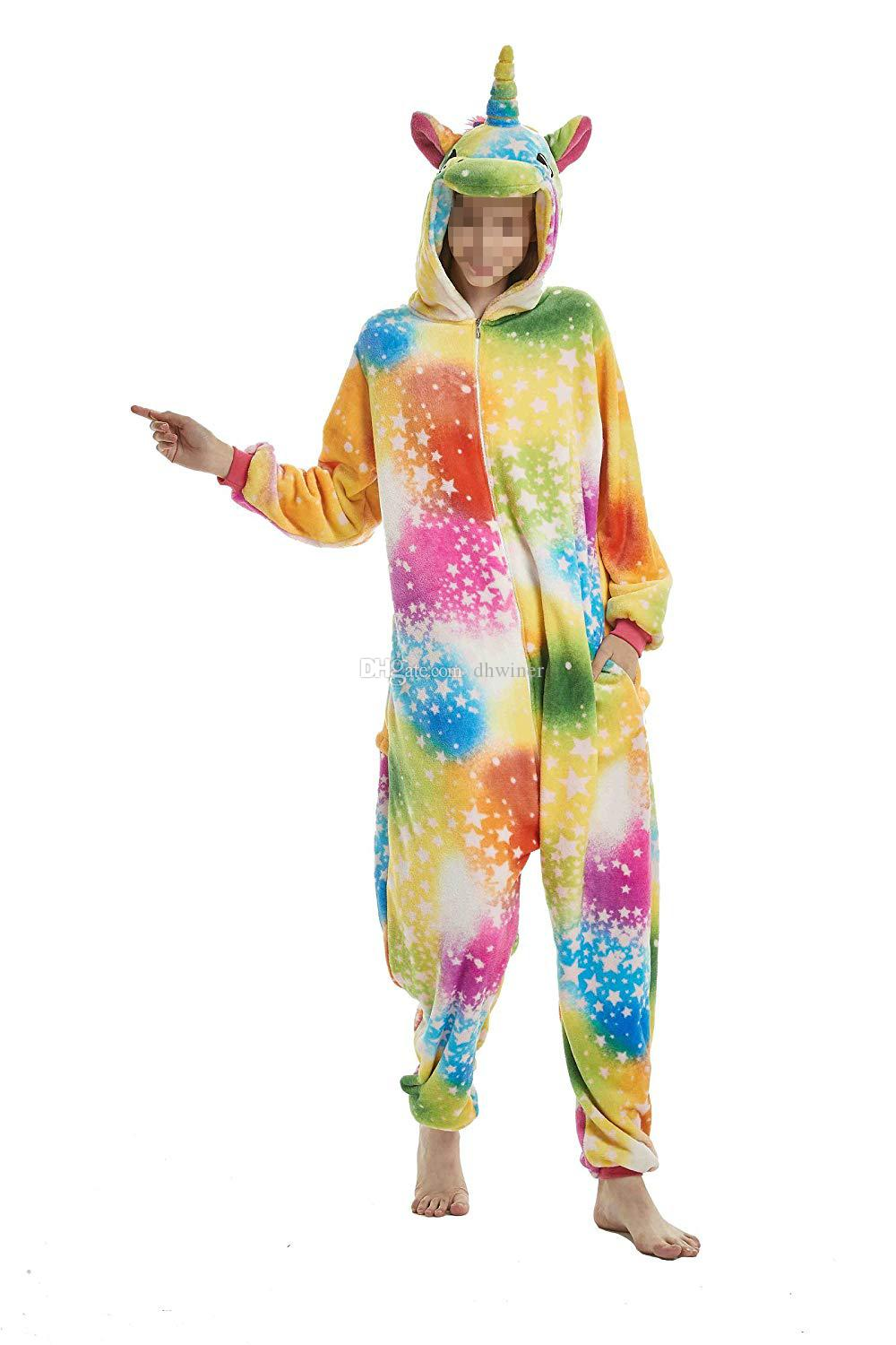 Halloween Unisex Adult Unicorn Pajamas Kigurumi Onepiece Cosplay Costume  Animal Outfit Themes For Costume Parties Group Costumes For Women From  Dhwiner 78204bc4e