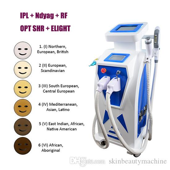 Top quality laser tattoo removal IPL hair removal machine acne freckle  treatment RF wrinkle removal machine for salon use with factory price