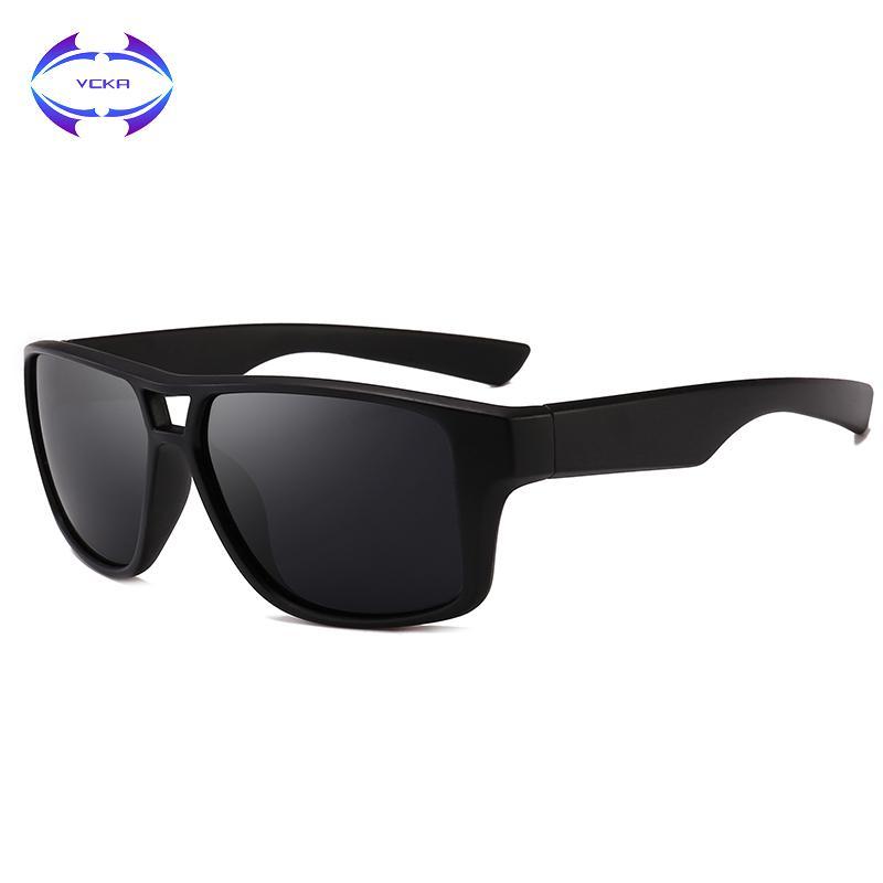 e8f18aae53db9 Compre Vcka Marca Design New Polarized Óculos De Sol Dos Homens Óculos De  Sol Do Sexo Masculino Clássico Retro Espelho Eyewear Shades Oculos Gafas De  Huazu, ...