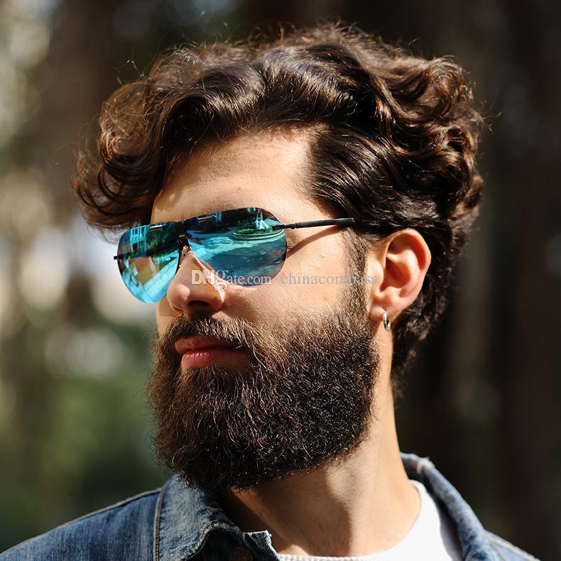c83e605ac3 New Fashion UV400 Pilot Polarized Sunglasses Beach Flash Eyewear ...