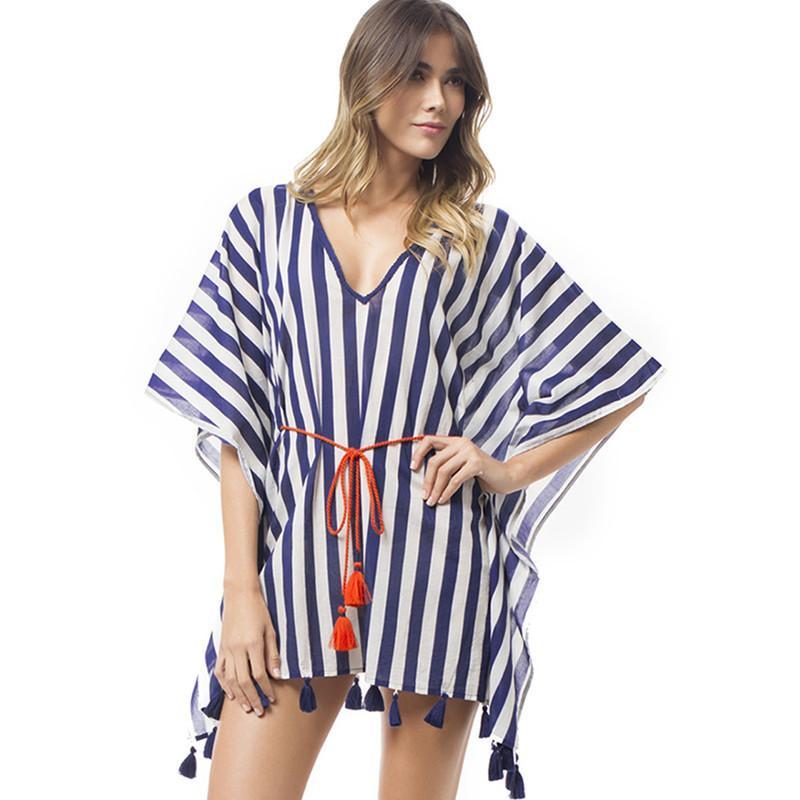ff60d604c4 2019 Chiffon Tassels Beach Wear Women Swimsuit Cover Up Swimwear ...