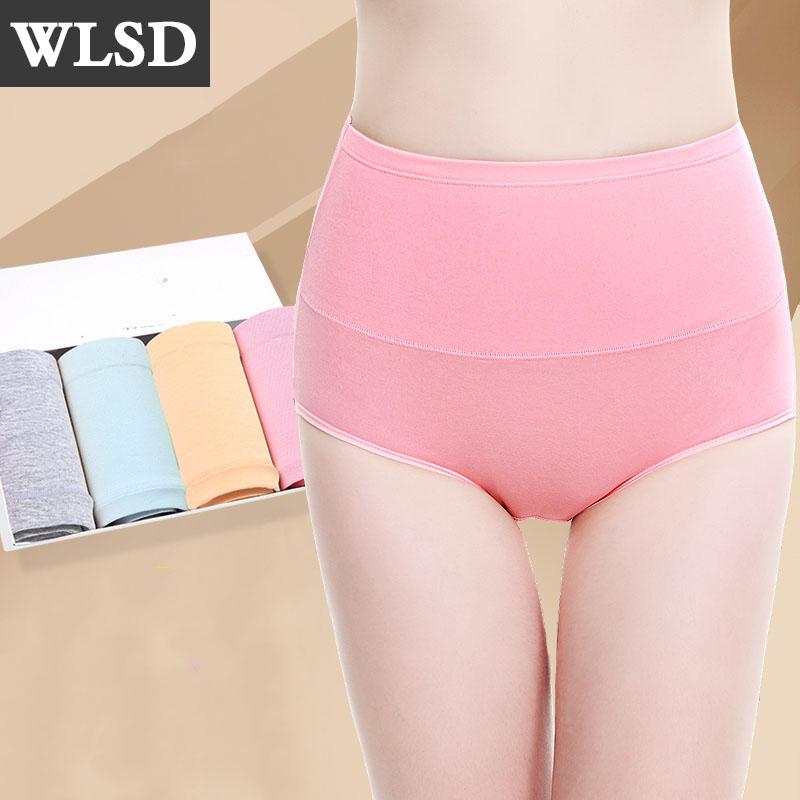 61c6e44364d2 2019 WLSD Women Panties High Waist Body Shaping Hip Briefs Cotton Lady Slimming  Lingerie Sexy Female Underwear Plus Size XXL From Vickay, $35.84 | DHgate.