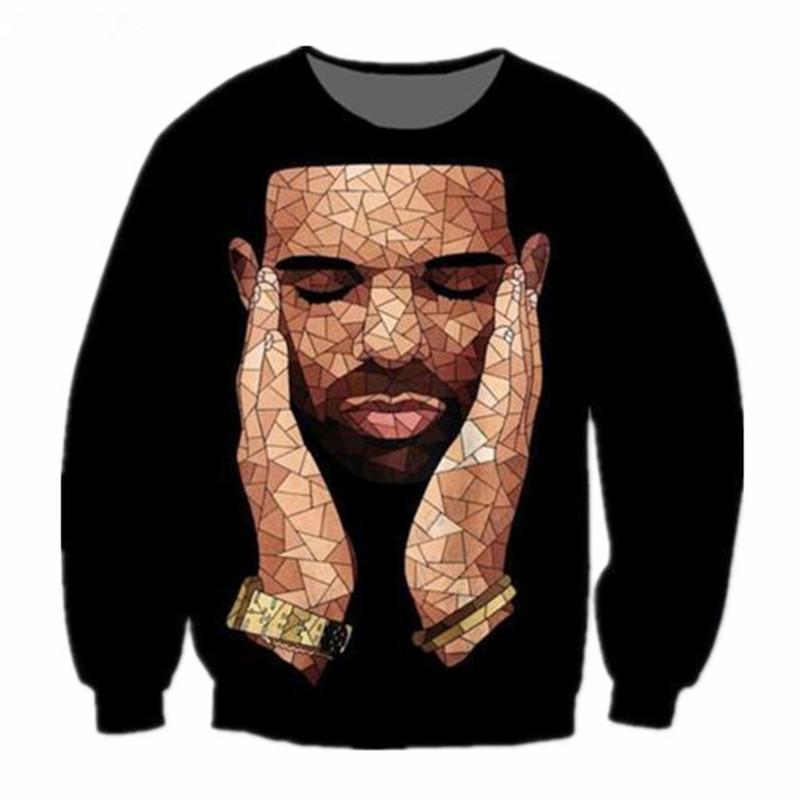 5973067e81925 Compre Nueva Moda Rap Star Drake 3D Imprimir Sudores Ropa De Moda Mujer  Hombre Sudadera Casual Jerseys K190 A  24.96 Del Superman201898