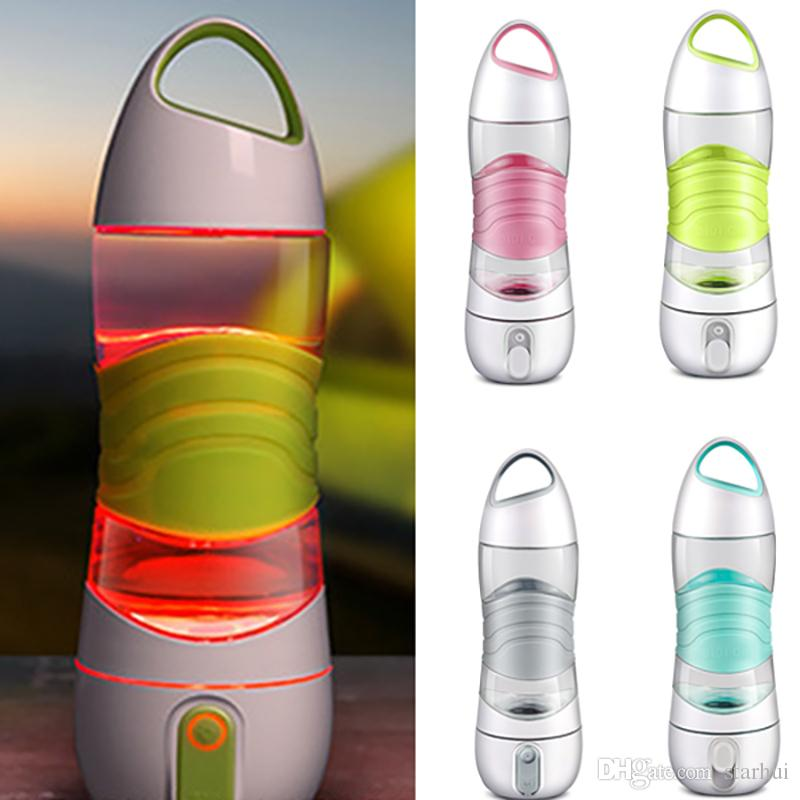 LED Light Smart Water Bottle Tracks Water Intake Glows to Remind You to Stay Night lights Sos Emergency Sport Mug Cup Kettle WX9-232
