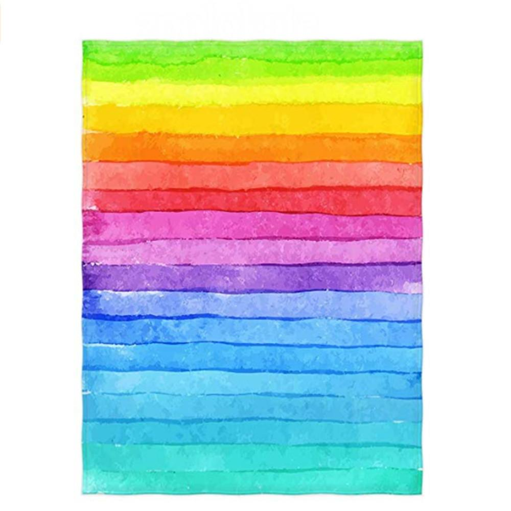 Inch Painted Rainbow Pattern Super Soft Throw Blanket For Bed Couch