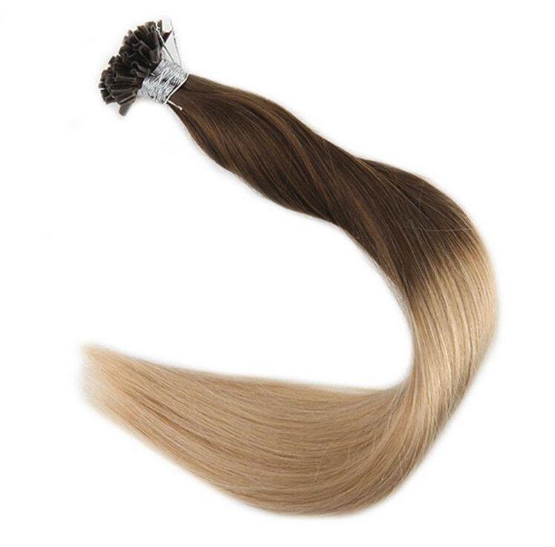 Remy Human Hair Extensions U Tip Hair Pre Bonded Keratin Hair
