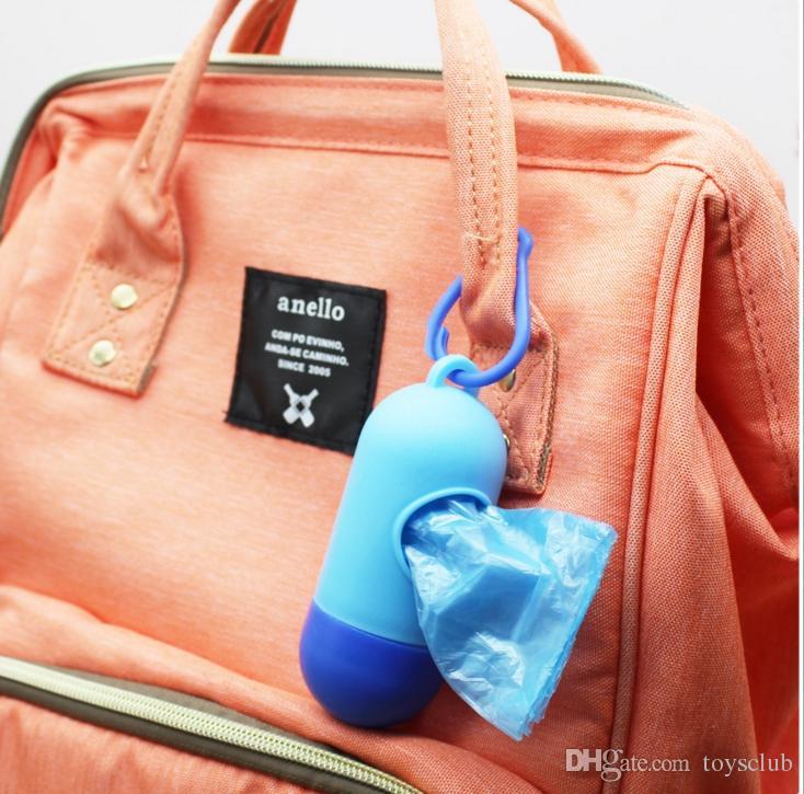 100 шт. мусорный ящик портативный мешки для мусора детские подгузники брошенные сумки случае Пэт мешок для мусора съемный коробка подгузник мешок