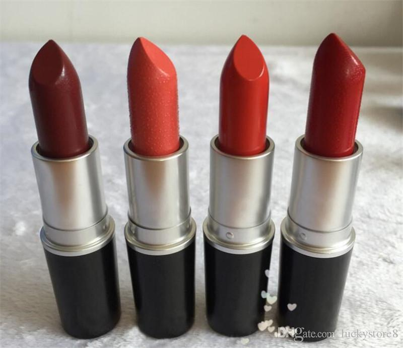 2018 hot matte Lipstick M Makeup Luster Retro Lipsticks Frost Sexy Matte Lipsticks 3g lipsticks with English Name drop shipping