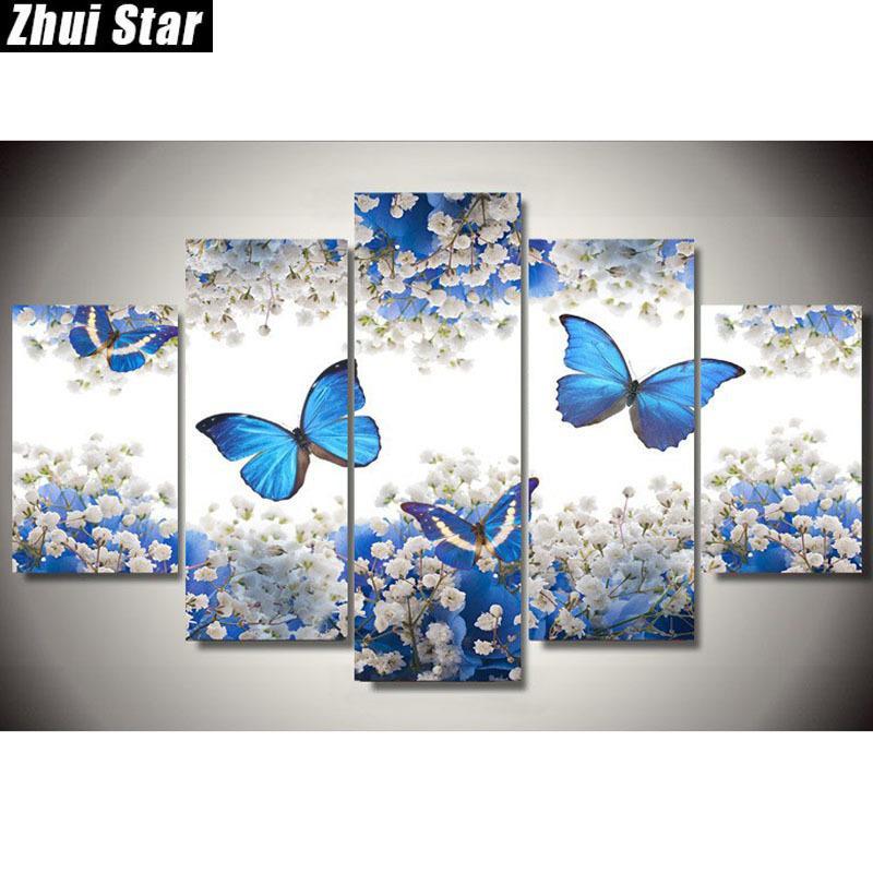 Satın Al Zhui Yıldız 5d Diy Tam Kare Elmas Boyama Kelebek çok Resim