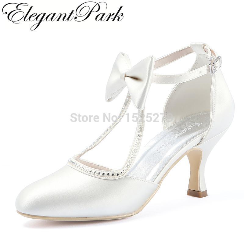compre ep31018 blanco marfil mujeres zapatos novia damas de honor