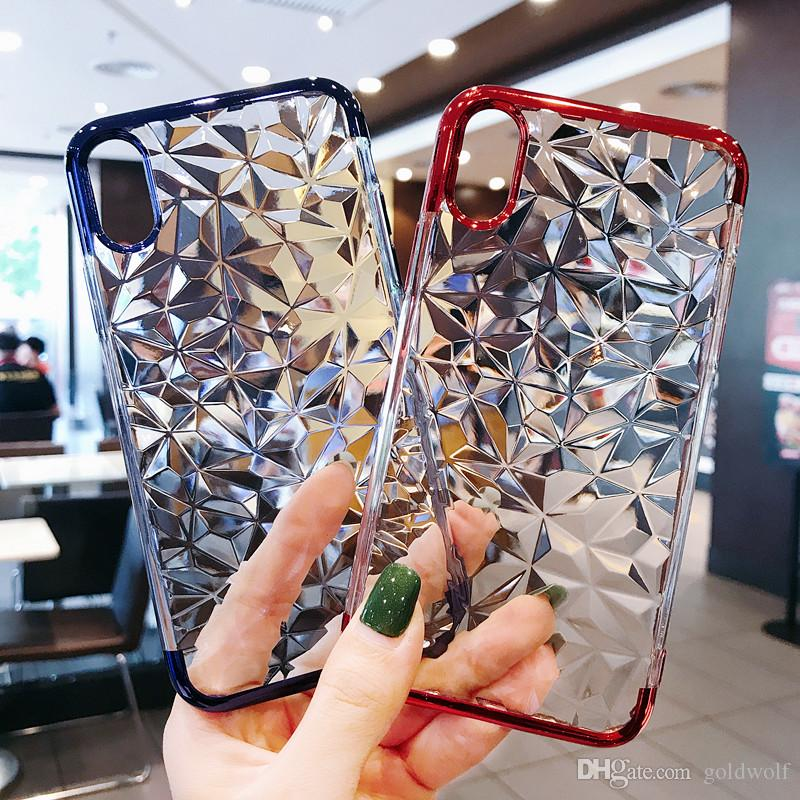 For iPhone6 6S iPhone6P 6SP iPhone7 8 iPhone7P 8P iPhoneX 3D Diamond Pattern Phone Case High quality Exact hole site Design