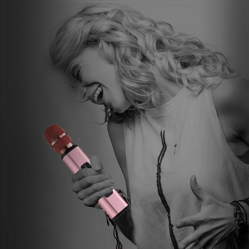 K6 Metal Mikrofon MIC Bluetooth Speaker for Phone Computer Wireless Microphone Record Music Condenser Karaoke Microfone