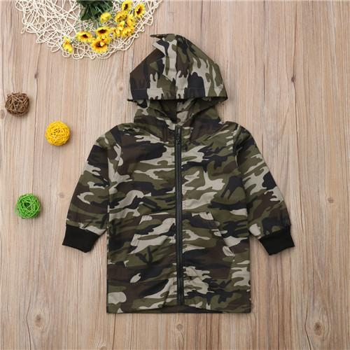 5a9c05d1 Children Clothing Toddler Kids Baby Boys Camo Dinosaur Zipper Coat Hoodie  Long Sleeve Outwear Clothes Top Hooded Boy Winter